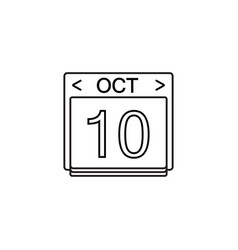 calendar line icon modern sign for mobile vector image vector image