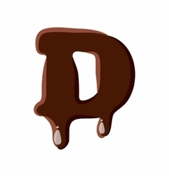 Letter D from latin alphabet made of chocolate vector image vector image