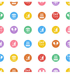 party celebration seamless pattern birthday vector image vector image
