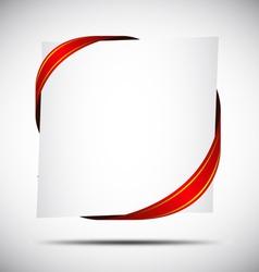Red Corner Ribbon vector image vector image