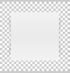 square white paper sheet with transparent shadow vector image vector image
