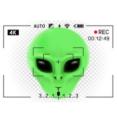 Camera viewfinder alien vector