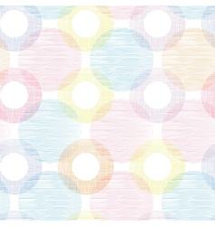 Colorful textile circles seamless patter vector image