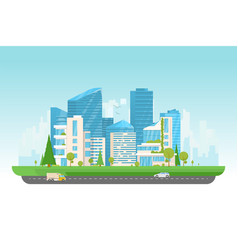 modern city with cars vector image vector image