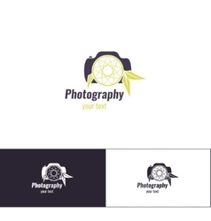 Photography logo two vector