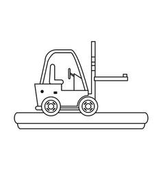 cargo forklift vehicle vector image