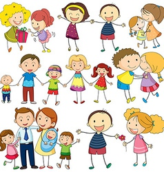 Family set vector image