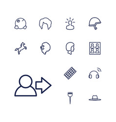 13 head icons vector