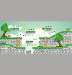 2d tileset platform game 24 vector