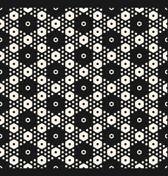 abstract geometric pattern in hexagonal grid vector image