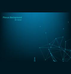 abstract polygonal background with connected vector image