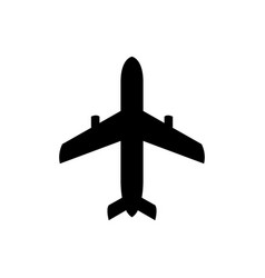 airplane icon black icon vector image