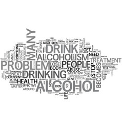 alcoholism is serious but there is help text word vector image