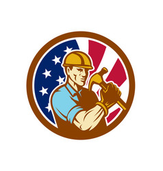 American handyman usa flag icon vector