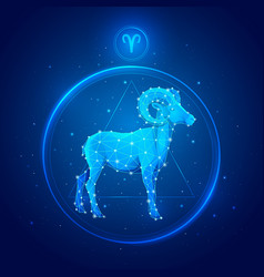 aries zodiac sign icons vector image
