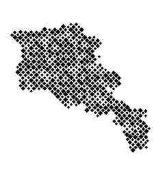 Armenia map from pattern black rhombuses vector
