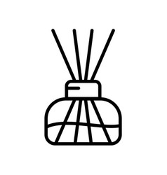 Aroma home diffuser linear icon transparent vector