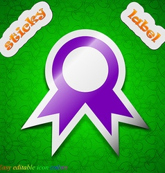 Award Prize for winner icon sign Symbol chic vector image
