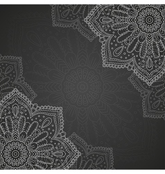 Banner with round ornament vector