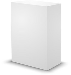 Blank white prism 3d box template vector
