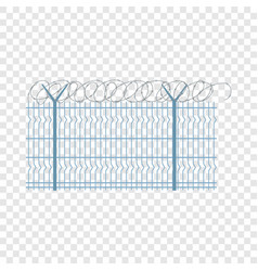 border metal fence icon flat style vector image