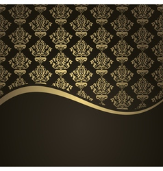 Brown gols wave background vector