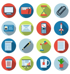 Business and office icons collection vector