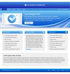 Business company website vector