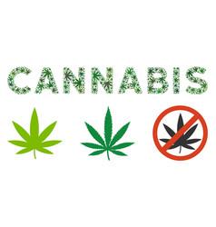 Cannabis label composition cannabis vector