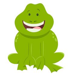 cartoon frog funny animal character vector image