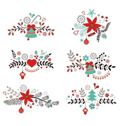 Christmas and New year decorative elements vector