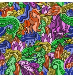 Colorful decorative seamless hand drawn doodle vector