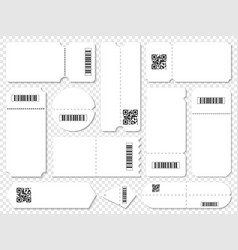 coupons with qr codes and barcodes vector image