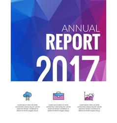 Cover Annual Report Business Colorful Triangle vector image