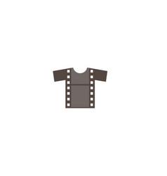 Creative t-shirt silkscreen film logo symbol vector