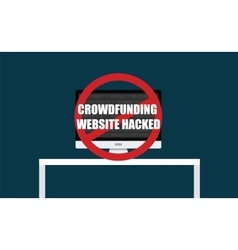 Crowdfunding website hacked vector