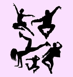 Dancers silhouettes male and female vector