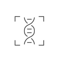 dna testing line outline icon vector image