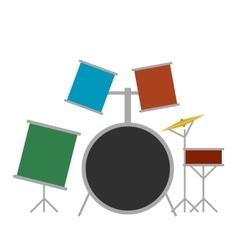 Drum set flat icon vector image