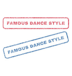 Famous dance style textile stamps vector