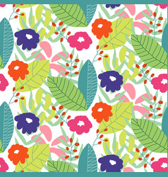 floral seamless pattern background ornament with vector image
