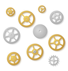 gear collection clock machine wheels gradient vector image