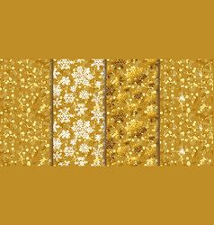 golden pattern seamless backgrounds four in one vector image