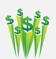 green money dollar signs icon vector image