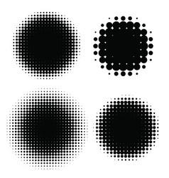 halftone patterns set halftone dots vector image