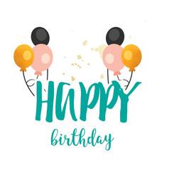 happy birthday balloon background image vector image