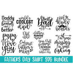 happy fathers day calligraphic greeting ca vector image