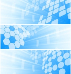 high tech banners vector image