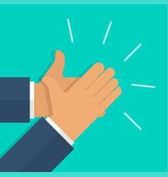 human hands clapping in flat design applause vector image