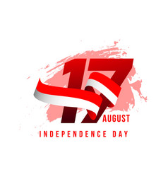Indonesia independent day template design vector